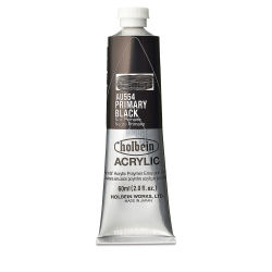 Holbein Heavy Body Artist Acrylics - Primary Black, 60 ml tube