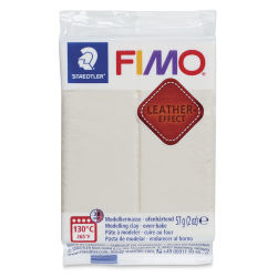 Staedtler Fimo Leather Effect Clay - Ivory, 2 oz