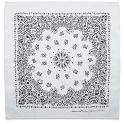 Carolina Paisley Bandana - White