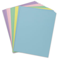 Pacon Card Stock - Pastel Colors, 8-1/2'' x 11'', Pkg of 100