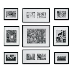 Nielsen Bainbridge Gallery Perfect Frame Set - Black, Set of 9, w/Floater Frames