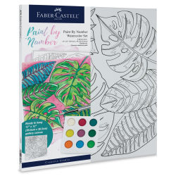 Faber-Castell Creative Studio Watercolor Paint by Numbers Set - Tropical (In packaging)