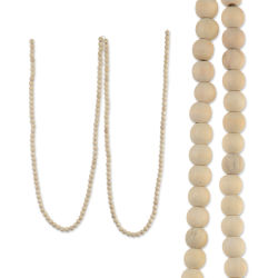 Darice Natural Wood Bead Garland
