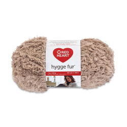 Red Heart Yarn Hygge Fur - Soft Taupe