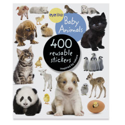 Eyelike Baby Animal Reusable Stickers, Book Cover