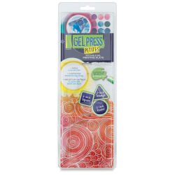 Gel Press Printing Plate - Petites, Pkg of 3, Circle, Triangle, and Square