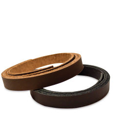 Realeather Leather Strip - Black, 1/2'' x 36''