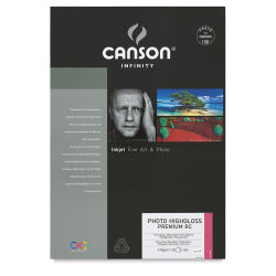 Canson Photo HighGloss Art Papers - 13'' x 19'', Premium Resin Coated, Pkg of 25 Sheets