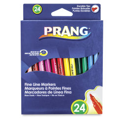 Prang Fine Line Marker Set - Assorted Colors, Set of 24