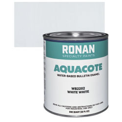 Ronan Aquacote Water-Based Acrylic Color - White White, Quart