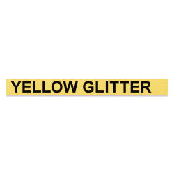 Dymo Label Maker Refill Tape - Black Font, Yellow Glitter Background, 10 ft