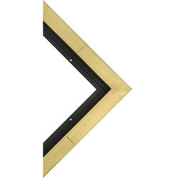 Blick Grande Wood Floater Frame - 8'' x 10'' x 3/4'', Gold Leaf/Black