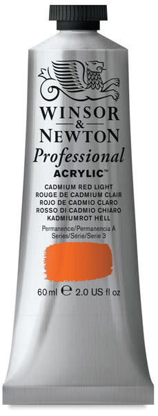Winsor & Newton Professional Acrylics - Cadmium Red Light, 60 ml tube