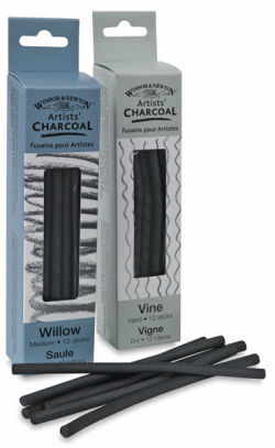 Winsor & Newton Vine Charcoal - Soft, Pack of 12