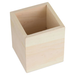 MultiCraft Wood Desk Organizer - Square