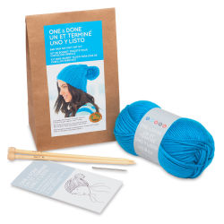 Lion Brand One and Done Yarn Kit  - Bad Hair Day Knit Hat