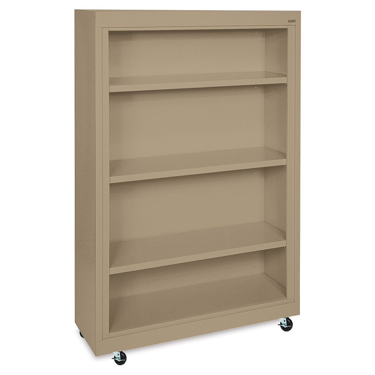 Sandusky Lee Mobile Bookcase - 36 x 58 x 18, Tropic Sand