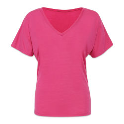 Bella + Canvas Slouchy V-neck T-shirt - Berry