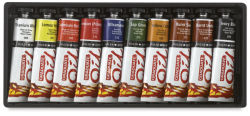 Daler-Rowney Graduate Oil Colors - Introduction Set, Set of 10 Colors, 38 ml tubes
