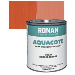 Ronan Aquacote Water-Based Acrylic Color - Medium Orange, Quart