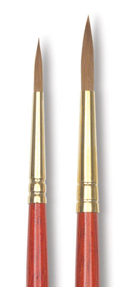 Winsor & Newton Sceptre Gold II Brush - Pointed Round, Short Handle, 4/0