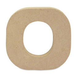 "DecoPatch Paper Mache Small Kraft Letter - O, Lowercase, 3-1/2"" W x 3-2/5"" H x 1/2"" D"
