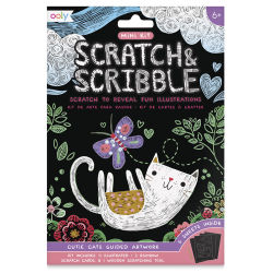 Ooly Scratch and Scribble Mini Scratch Art Kit - Cutie Cats