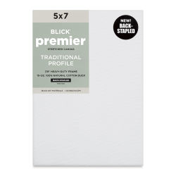 "Blick Premier Cotton Canvas - Back-Stapled, 7/8"" Traditional Profile, 5"" X 7"""