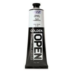 Golden Open Acrylics - Iridescent Silver (Fine), 5 oz, Tube
