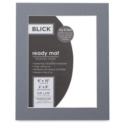 Blick Pre-Cut Mat - Bar Harbor Gray, 8'' x 10'' (5-3/4'' x 7-3/4'' Opening)