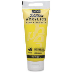 Pebeo High Viscosity Acrylics - Primary Yellow, 100 ml tube