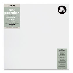 "Blick Premier Cotton Canvas - Back-Stapled, 7/8"" Traditional Profile, 24"" x 24"""