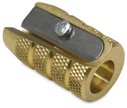 Mobius & Ruppert Grenade Brass Pencil Sharpener - Single Hole