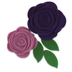 Hampton Art Felt Flowers - Pocket of Purple, Pkg of 2
