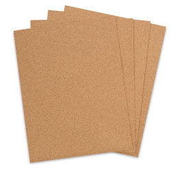 Midwest Products Cork Board - 8-1/2'' x 11'' Sheets, Pkg of 4