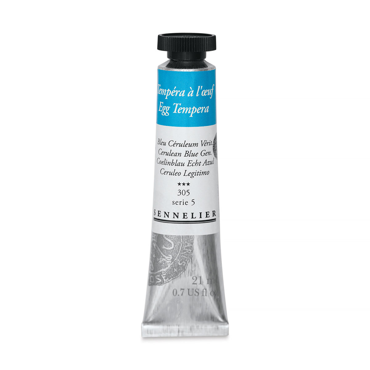 Sennelier Artists Egg Tempera - Cerulean Blue Genuine, 21 ml tube