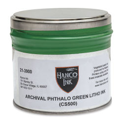 Hanco Standard Palette Litho Ink - 1 lb, Phthalo Green