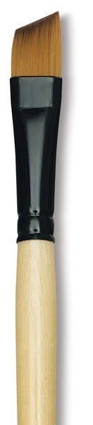 Dynasty Black Gold Synthetic Brush - Angular, Short Handle