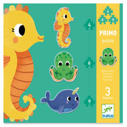 Djeco Primo Progressive Puzzles-In the Sea box