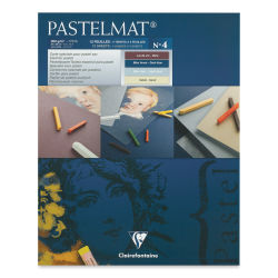 Clairefontaine Pastelmat Card Pad - 9'' x 12'', Assorted Tints 4, 12 Sheets