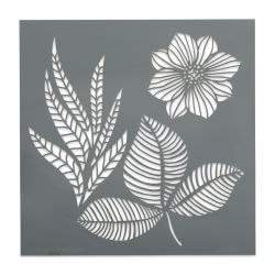 "DecoArt Americana Décor Stencil - Petals and Leaves, 8"" x 8"""