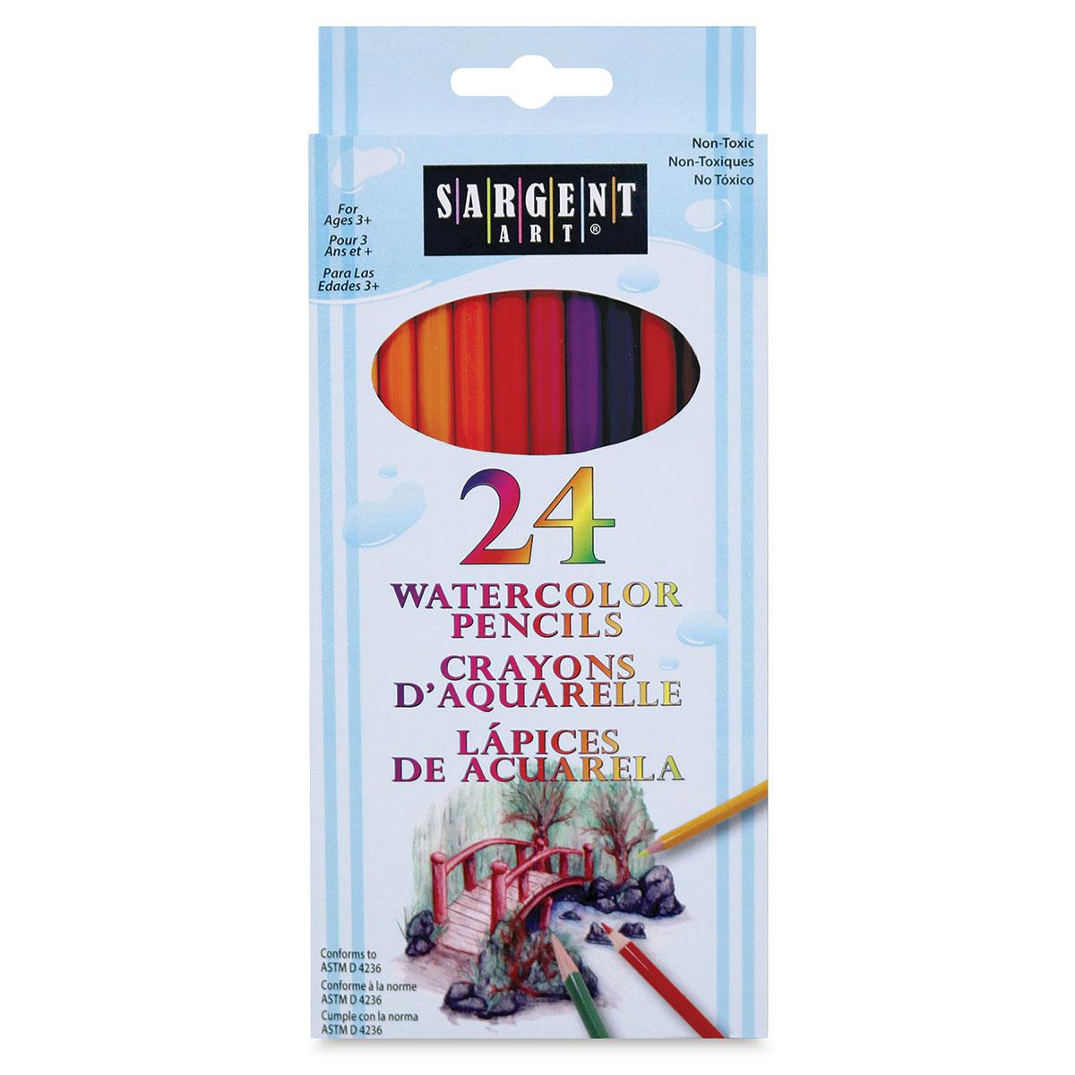 Sargent Art Non-Toxic Watercolor Pencil 7 in L Set of 12 Assorted Color