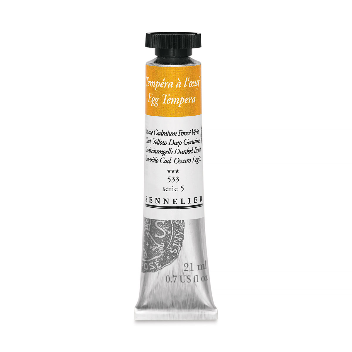 Sennelier Aritsts Egg Tempera- Cadmium Yellow Deep Genuine, 21 ml tube