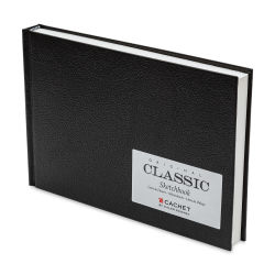 Cachet Classic Black Cover Sketchbook - 6'' x 9'', 96 Sheets