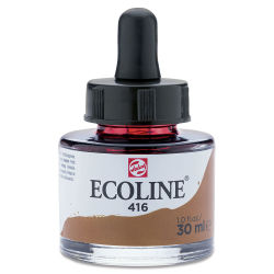 Ecoline Liquid Watercolor with Dropper - Sepia, 30 ml jar