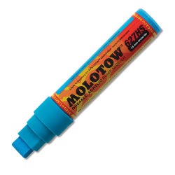 Molotow ONE4ALL Acrylic Marker - 15 mm Tip , Shock Blue Middle, Square Tip