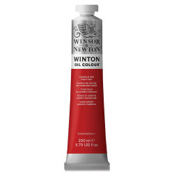 Winsor & Newton Winton Oil Color - Cadmium Red Deep Hue, 200 ml tube
