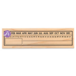 Hampton Art Wood Stamp - Calendar