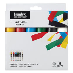 Liquitex Paint Marker - Primary Colors, 15mm Tip, Set of 6