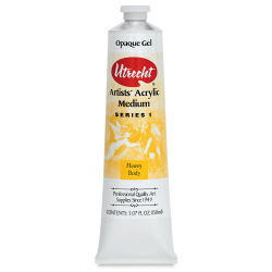Utrecht Acrylic Medium - Gel Opaque Medium, 5 oz tube